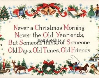 Christmas Holidays Poem Digital Image printable download