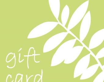 10 dollar gift card, naturegoods shop gift card, 10 dollar gift certificate