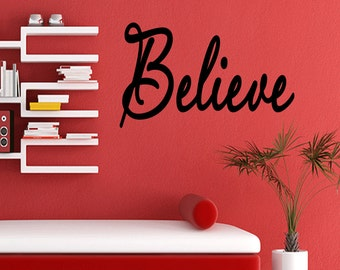 Wall Quotes Believe Vinyl Wall Decal Quote Removable Home Wall Sticker Home Decor (X15)
