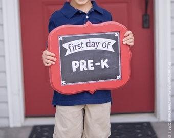 "INSTANT DOWNLOAD - 8""x10"" Chalkboard First & Last Days of School Sign: Vintage, Grade, Kindergarten First, Second, Third, Preschool"