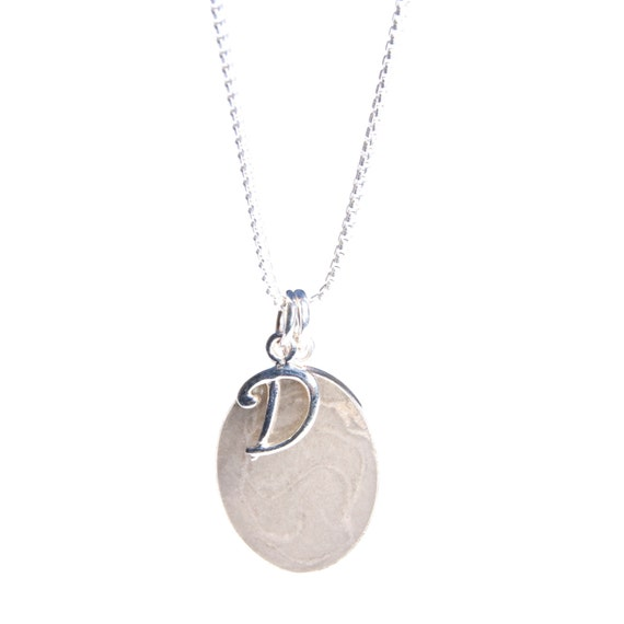 Oval cremation pendant 18 x 13mm with initial charm for Cremation jewelry for pets ashes
