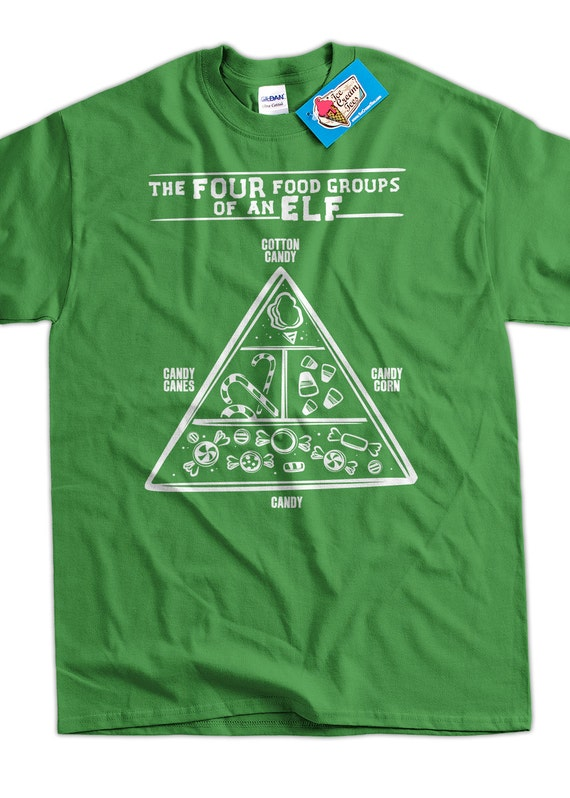 Funny Christmas Shirt Elf Food Group Elves T-shirt Reindeer