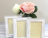 Rustic White Shabby Chic Picture Frames // Wedding Decor // Home Decor // R2S