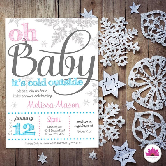 baby shower invitation winter wonderland theme by eventswithgrace