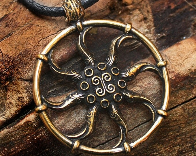 Bronze Azura's Star Artifact Video Game 3D Pendant Necklace