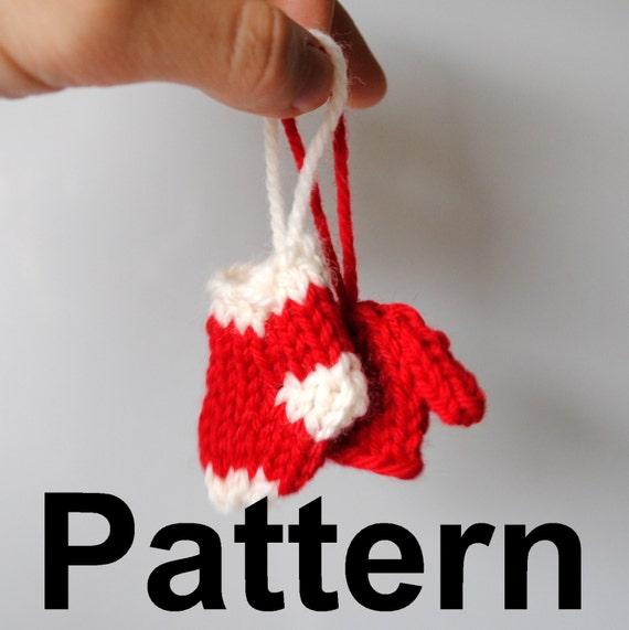 Items similar to Knit Mini-Ornaments Pattern - Mini ...