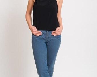 1990's Diesel Flare Jeans - Vintage 1970's Blue Pin Stripes Flared Boho Bell Bottoms Denim Pants Hippie Trousers Size 28 M