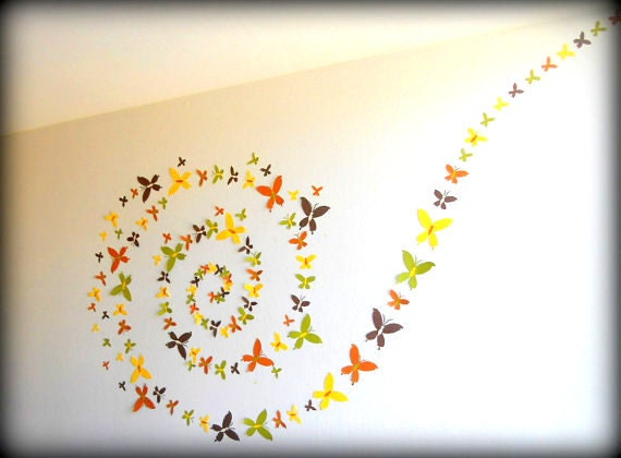 Set of 100 3d butterfly wall art butterfly wall by for 3d wall butterfly decoration