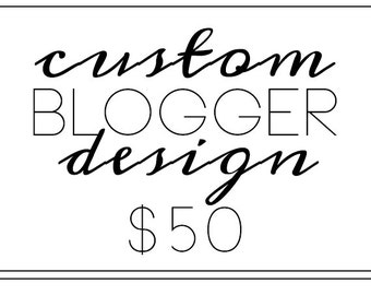 Custom Blogger Design - 50