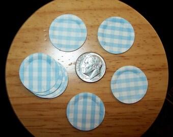 Dollhouse Miniature Paper Plates, Assorted colors, Set of 10 pieces