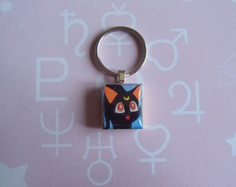 Luna - Sailor Moon Scrabble Tile Keychain