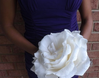 Beautiful GIANT Crepe Paper Rose (Available in Various Colors): Perfect as Wedding Bouquets, Quinceaneras, or as a Gift