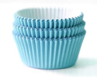 Solid Light Blue Aqua Cupcake Liners