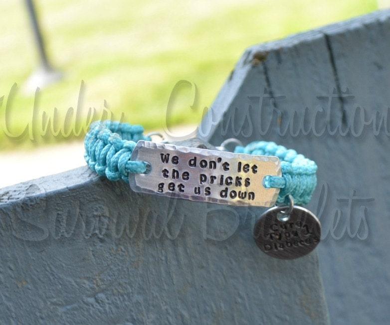 type 1 diabetes paracord tag bracelet we don t let
