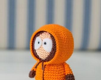 "Crochet Pattern of Kenny McCormick from ""South Park"" (Amigurumi tutorial PDF file)"