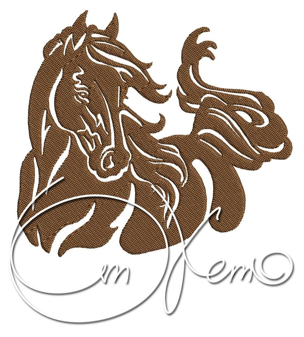 Machine embroidery file horse