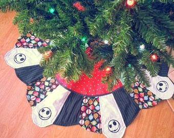 nightmare before christmas jack skellington patchwork tree skirt 38 disney - Disney Christmas Tree Skirt
