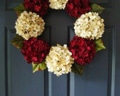 Hydrangea Door Wreath - Door Wreaths - Hydrangea Wreath - Housewarming Gift Ideas - Wreath - Winter Wreath - Hydrangea Wreath