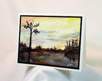 Original Art Blank Notecards, Note Cards,  Sunset, Watercolor