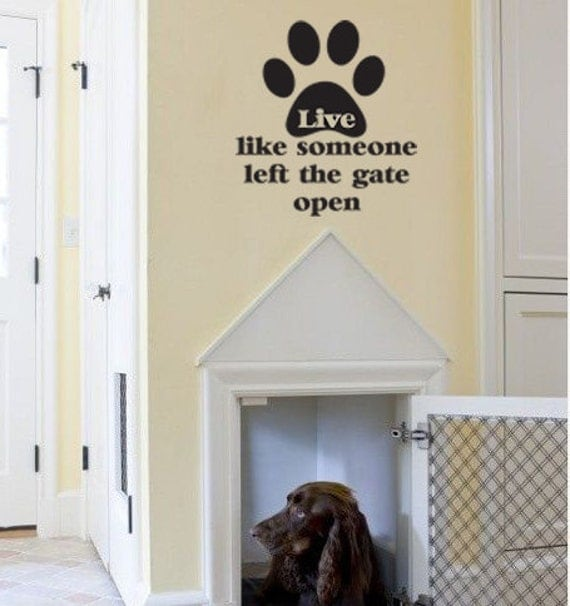 Pet Wall Decal Home Decor Dog Lover Wall Art Kitchen Bedroom Family Room Living Room Home Decor