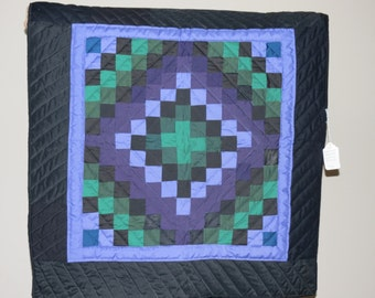 Quilted Wall Hanging - Trip Around the World