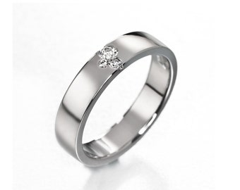 Unique engagement ring, simple wedding band, modern diamond ring, handmade design ring, diamond wedding band, unique wedding ring