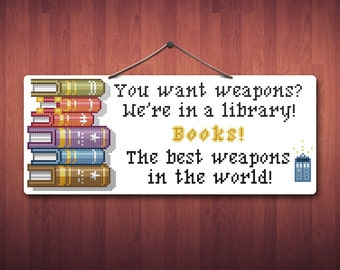 Doctor's Books - Doctor Who Cross Stitch Pattern PDF File