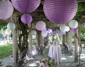 """5 pcs of 12"""" Paper Lanterns - Decoration for Baby Shower / Bridal Shower / Birthday / Wedding Party"""