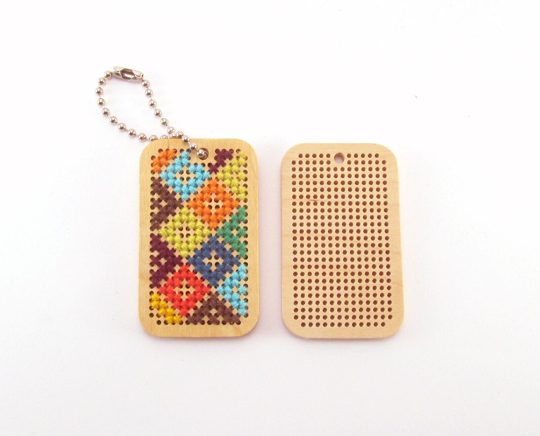 Wooden cross stitch embroidery blanks for your