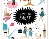 Notecard - Partytime