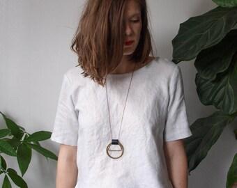 Mixed Media Circles Necklace
