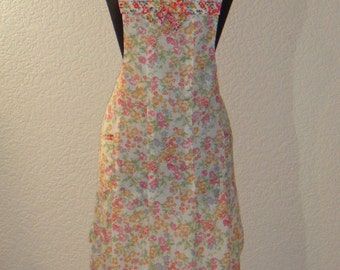 Floral Pleated Full Apron