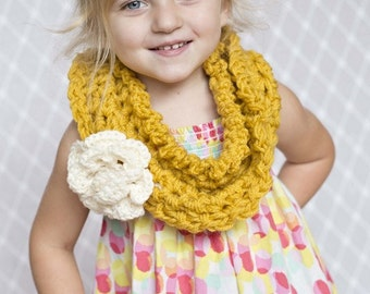 Scarf Wrap Cowl Scarflette Scarves Toddler / Flower Scarf Cowl Kids Photo Prop / Cowl Wrap Photography Kids / Scarf Infinity GIRL BOY Winter