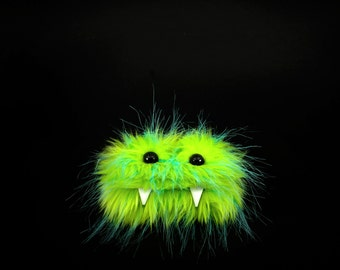 Gus the Eco Friendly Monster. Green Furry Altered Altoid Tin Monster. Great for gift cards, party favors, teen or child wallet Kawaii