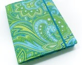 Kindle Voyage Cover, iPad Mini Case, Fire HDX, Nook Glowlight, Kobo Arc, Kindle Cover - Blue Green Paisley Custom Tablet Case eReader Cover