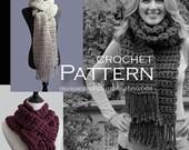Long Bulky Scarf with Fringe - BEGINNER Crochet Pattern - PDF 9810