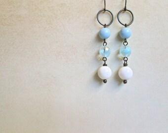 Blue Drop Earrings by Nancelpancel on Etsy