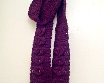Crochet Sweet Love Hearts Scarf Pattern - INSTANT DOWNLOAD - Crochet PDF Pattern
