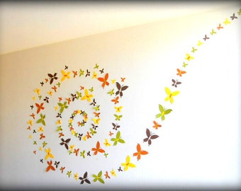 3D Butterfly Wall Art - Butterfly Wall Decor - Large nursery art - Nursery Wall Art - Paper wall art - Butterfly Nursery Decor - 3d wall art