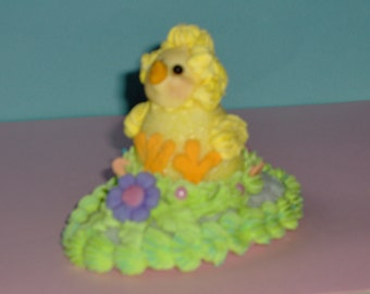 EASTER BABY CHICK  made of sugar/icing for Easter baskets, Easter egg hunt, Spring decoration, gift,
