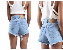 ALL SIZES Cut Off LEVI'S Vintage  High Waisted Shorts