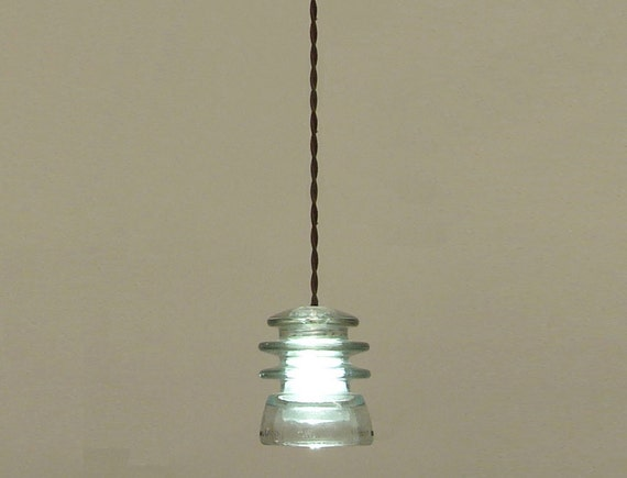 Glass Insulator Pendant Lighting Extremely By