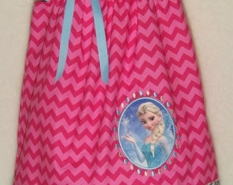 FROZEN ELSA Dress / Pink / Blue / Disney FROZEN / Anna / Birthday / Disney Inspired / Snow Queen / Girl / Toddler / Custom Boutique Clothing