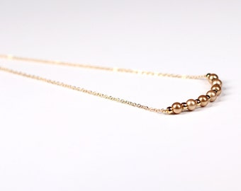 Swarovski Pearl Gold Bar Pendant Necklace