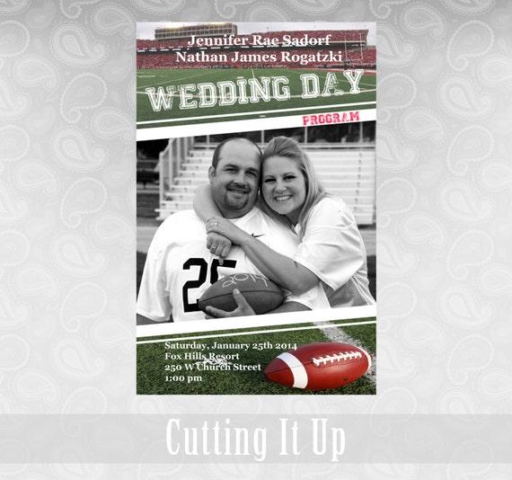 Soccer Themed Wedding Ideas: Football Wedding Program Sports Theme Favor Fun Magazine