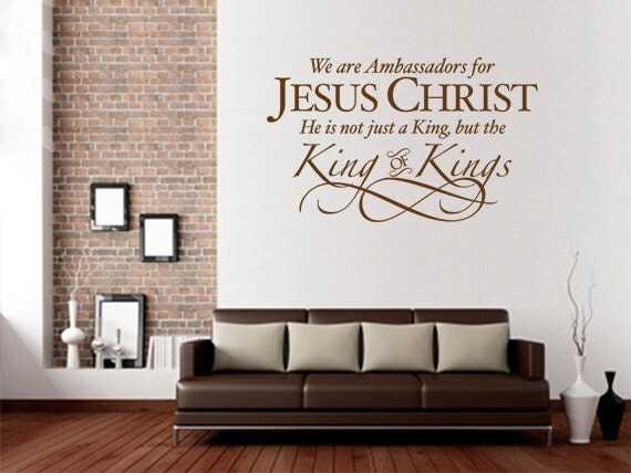 Christian Wall Decal. Ambassadors For Jesus Christ CODE 093