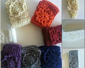 Crochet Headband, women headband, knitting, snow white, Earwarmer, crochet flower, winter headband, head wrap, ear warmer, for winter