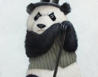 Percival the Perpetually Perturbed Panda. Signed Print.