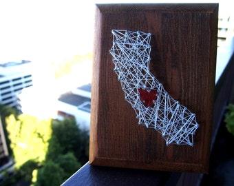 Small California String Map