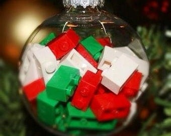 Personalized Holiday Ornament Lego